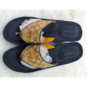 Coach Tan Janice Signature C Pattern Sandal Size 9
